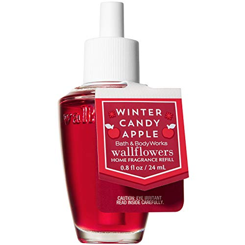 Bath and Body Works WINTER CANDY APPLE Wallflowers Home Fragrance Refill 0.8 Fluid Ounce (2018 Holiday Edition)