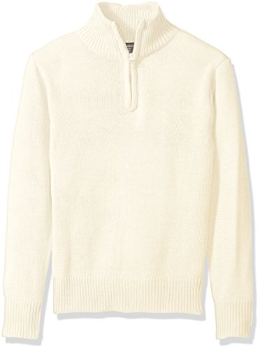 Eddie Bauer Big Boys' Sweater (More Styles Available), Ivory-IHICFB, 10/12 (Boys Uniform Sweater)