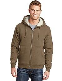 CornerStone Men's Heavyweight Sherpa Lined Hooded Fleece Jacket_Brown_6XL