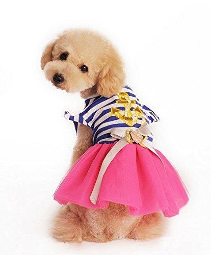 Namsan Puppy Doggie Dog Clothes Pet Princess Dress Apparel Blue -Extra Small