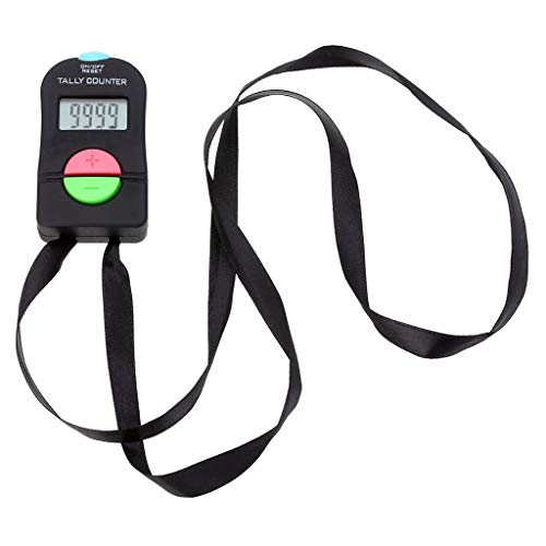 Xbes Electronic Digital Hand Tally Counter Clickers Count Up & Down with Nylon Lanyard (BATTERY INCLUDED)