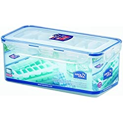 LOCK & LOCK Airtight Rectangular Food Storage Container with Ice Cube Trays 114.97-oz / 14.37-cup