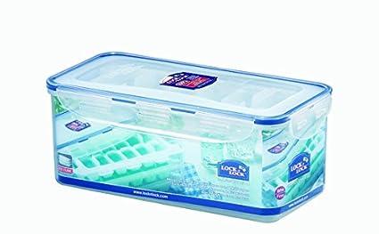 LOCK & LOCK Eiswürfelform mit Eiswürfelbehälter & Deckel im 4-teiligen Set - Premium Eiswürfelbereiter bpa frei - Gefrierform