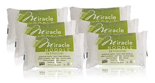Miracle Noodle Shirataki Fettuccini, Gluten-Free, Zero Carb, Keto, Vegan, Soy Free, Paleo, Blood Sugar Friendly, 7oz (Pack of - Cognac Blended