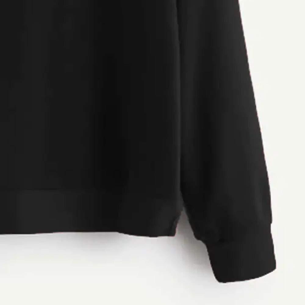 Yajiemen Womens Casual USA Solid Long Sleeve Print Sweatshirt Hooded Pullover Tops Blouse