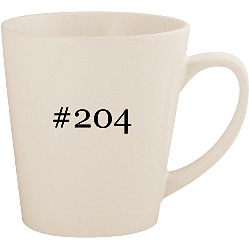 (#204 - White Hashtag 12oz Ceramic Latte Mug Cup)