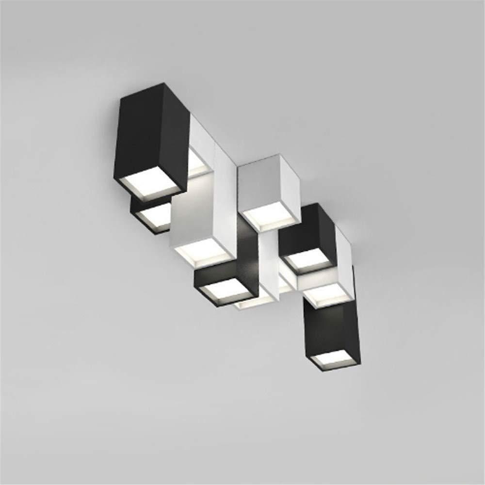 Moderne kurze acryl kreative kombination von geometrischen LED deckenleuchte home deco DIY benutzerdefinierte quadratische deckenleuchte, Weiß, H 10 CM stil