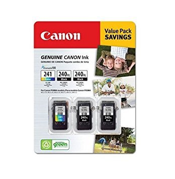 Canon PG-240XL/CL-241Ink Cartridges - Combo Pack, Black (Pg 240 Black Cartridge Cl 241 Color Cartridge)