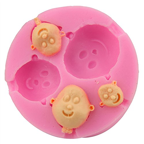 Let'S Diy Baby Face Shaped Silicone Cake Mold Bakeware Decorating Gum Paste Fondant Clay Soap Mold