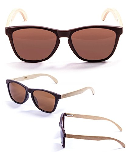 Ocean Sunglasses Bamboo Wood Wayfarer Sun Glasses - Lightweight, Easy And Comfortable To Wear - Scratchproof With 100% UV Protection - Unisex Sea Wood Range For Men and - Marron Wood