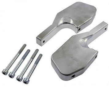 Set poggiapiedi passeggero CNC argento per VESPA GT L 200 ZAPM31200 4T LC 03
