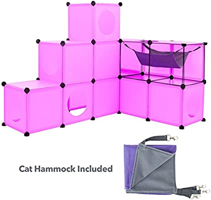 Cat Condo//Blue XL Modular 109 Piece Cat Condo//Cat House//DIY Cat Tower//Cat Tree Kit//Build Your Own Fully Customizable Cat House by Frontpet