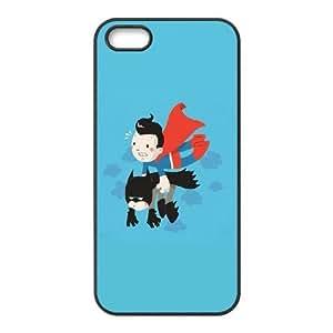 iPhone 5 5s Cell Phone Case Black Superman Carrying Batman JSK740922