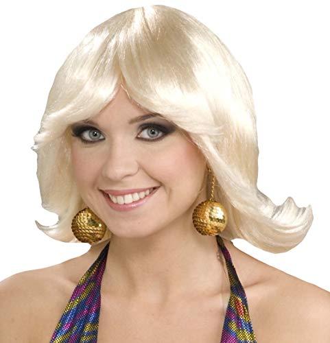 Forum Novelties Women's 70's Disco Fever Flip Style Blonde Wig, Multi, One Size