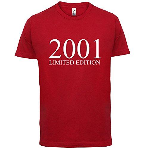 2001 Limierte Auflage / Limited Edition - 16. Geburtstag - Herren T-Shirt - Rot - M