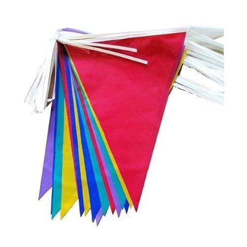 2 x plástico PVC banderines de cartel multicolor 10 metros ...