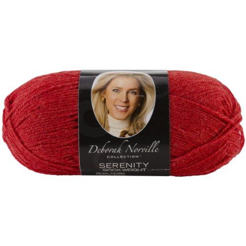Yarn Serenity Sock - Deborah Norville Serenity Sock Yarn - Red