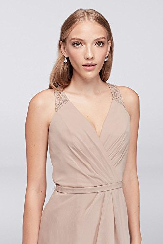 Chiffon Neck Mystic Back Bridal Style F19439 Bridesmaid Dress David's V Lace pF5xqqa