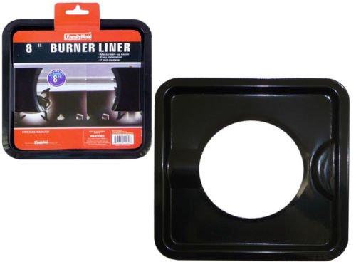 4 PCS HEAVY DUTY BLACK STEEL SQUARE REUSABLE GAS BURNER BIB LINER COVERS 8'' NEW