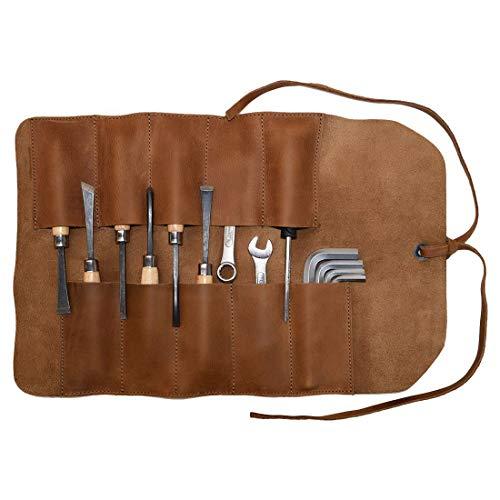 (Hide & Drink, Rustic Leather Small Tool Roll Handmade Includes 101 Year Warranty :: Single Malt Mahogany)