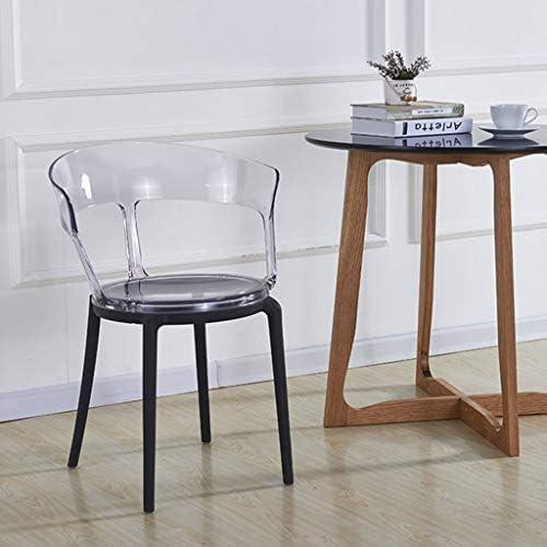LSRRYD Moderne Chaise De Cuisine, Pied en Plastique PP + Dossier en PC,Facile À Assortir avec Une Petite Table À Manger, Une Table Basse (Couleur : Clair)