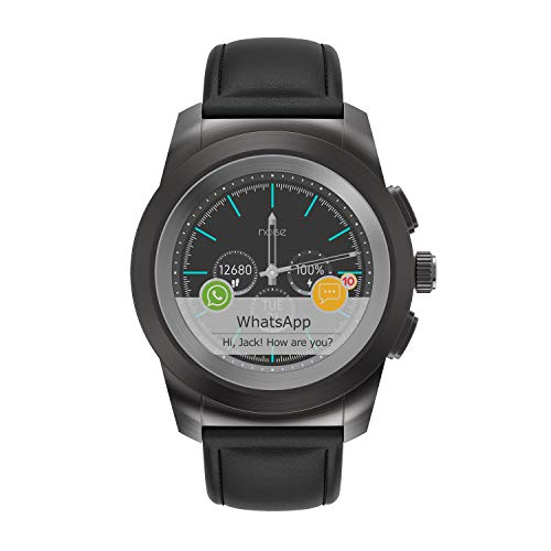 Noise NoiseFit Fusion Hybrid Smart Watch with Leather Strap (Classic Black)