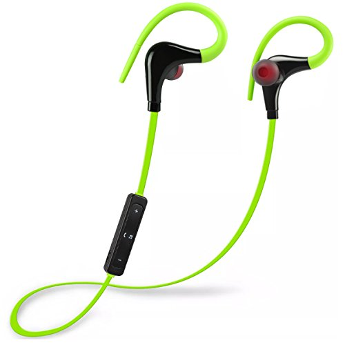 Bluetooth Headphones in Earbuds Wireless Earphones Sports Stereo Headset Noise Cancelling Sweatproof Earpiece for Running Gym for iOS for Samsung Galaxy for Android Smart Phone