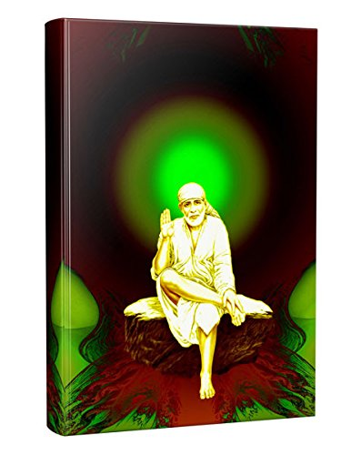 Matvira | Sai Baba - Premier Designer Notebook - 200 colour pages- 10  Energy Art with Motivational Quotes Inside - Hard Bound - Paper made from  Agro