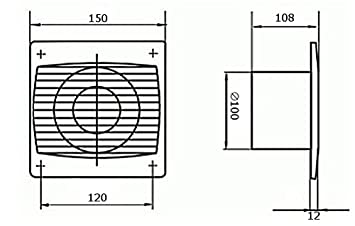 Bad-Lüfter Ventilator 100 125 150 mit Kugellager Silenta S (Ø 100) Kolor