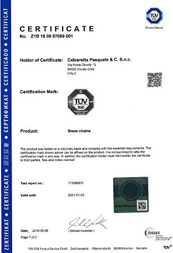 Catene da Neve OMOLOGATE SMC 9mm 245 40 R 18 /Ö-Norm 5117 T/ÜV GR120 con Valigetta