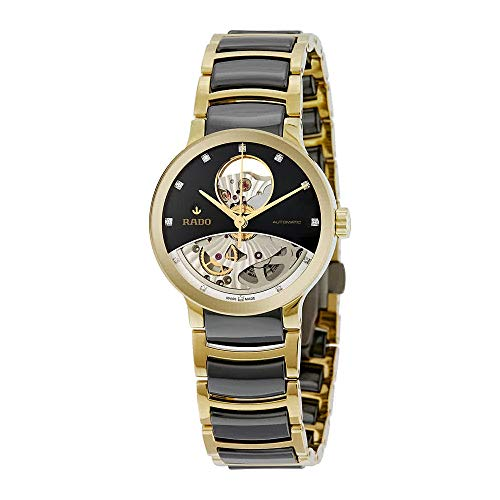 Rado Centrix Open Heart Black Skeleton Dial Automatic Mens Watch R30246712