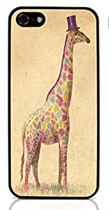Cute Giraffe Animal Hard Case for Apple iPhone 5/5S ( Sugar Skull )