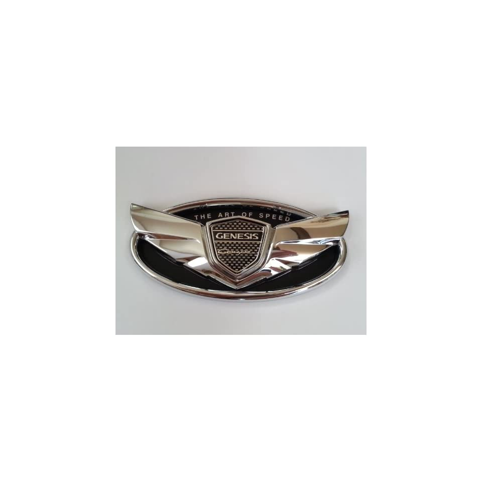 2010 2012 2013 Hyundai Genesis Coupe The Art of Speed Chrome Custom Wing Badge Emblem for Trunk or Grill