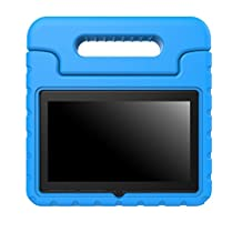 Yuntab Q88 Case - MoKo Kids Shock Proof Convertible Handle Light Weight Super Protective Stand Cover for Yuntab 7 Inch Q88 / Yuntab 7 Q88 Allwinner A33 Quad-core Tablet PC, JYJ 7 Inch Tablet, BLUE