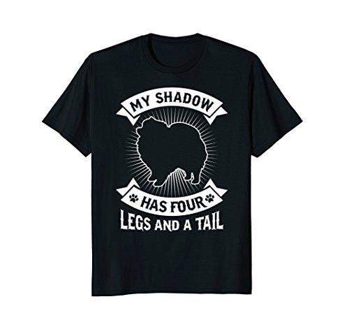 (My Shadow Has 4 Legs And A Tail Pomeranian Spitz Dog)