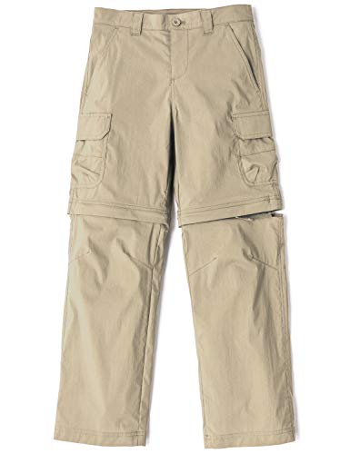 CQR Kids Youth Hiking Cargo Trousers Outdoor Camping Pants Quick Dry Convertible Zip Off//Regular Bottoms UPF 50