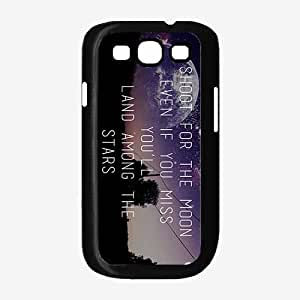 Shoot For the Moon- Plastic Phone Case Back Cover Samsung Galaxy S3 I9300
