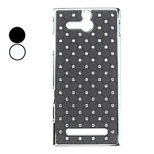 Starry Sky Pattern Hard Case with Rhinestones for Sony U/ST25i --- COLOR:Black