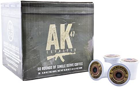 Black Rifle Coffee Company AK-47 Coffee Rounds for Single Serve Brewing Machines (50 Count) Medium Roast Coffee Pods Cups