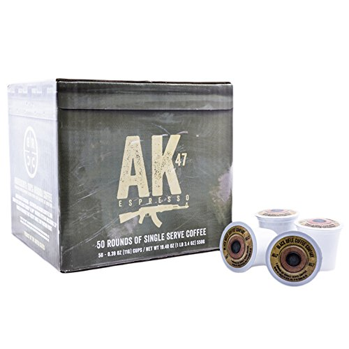 Black Rifle Coffee Company AK-47 Coffee Rounds for Single Serve Brewing Machines (50 Count) Medium Roast Coffee Pods Cups (Best Ak 47 On The Market)