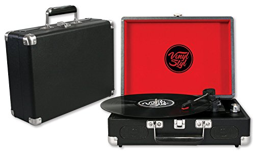 Vinyl Styl Groove USB Portable 3 Speed Turntable (Black)