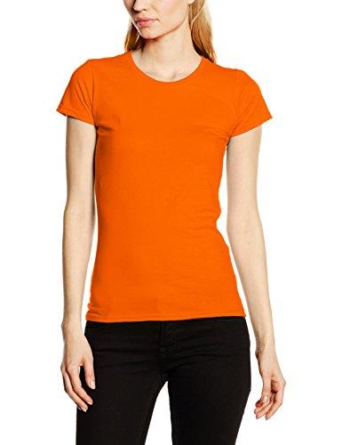 Fruit of the Loom Ss125m, Camiseta para Mujer naranja