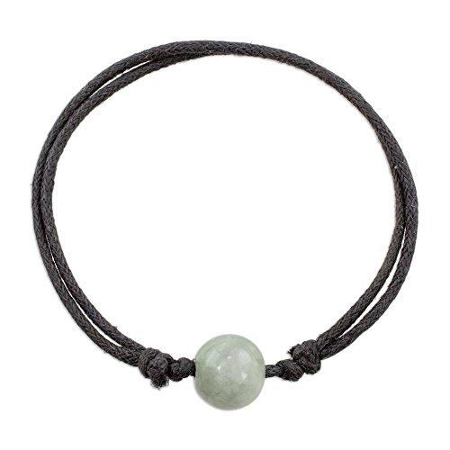 NOVICA Jade Pendant Bracelet, 5.5