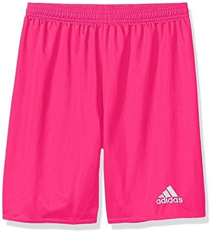 adidas Youth Soccer Parma 16 Shorts, Shock Pink/White, X-Large (G Shocks X Large)