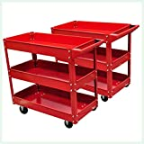 K&A Company 2 x Workshop Tool Trolley 220 lbs 3 Shelves