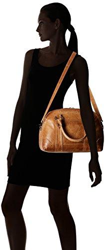 Melissa Satchel Handbag FRYE Domed Beige Leather awOnpCq