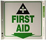 ZING-2638-Eco-Safety-Corner-Sign-First-Aid-10Hx10W-Recycled-Plastic