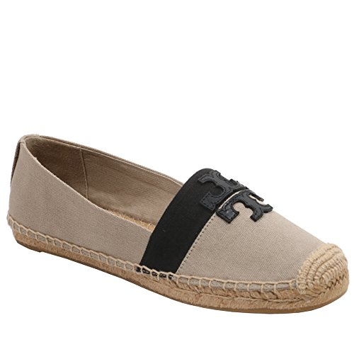 Tory Burch Weston Flat Espadrille Canvas (8, Natural Black) -