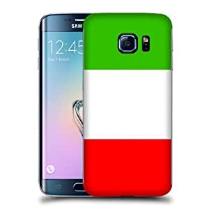Case Fun Flag of Italy Style 2 Snap-on Hard Back Case Cover for Samsung Galaxy S6 Edge by icecream design