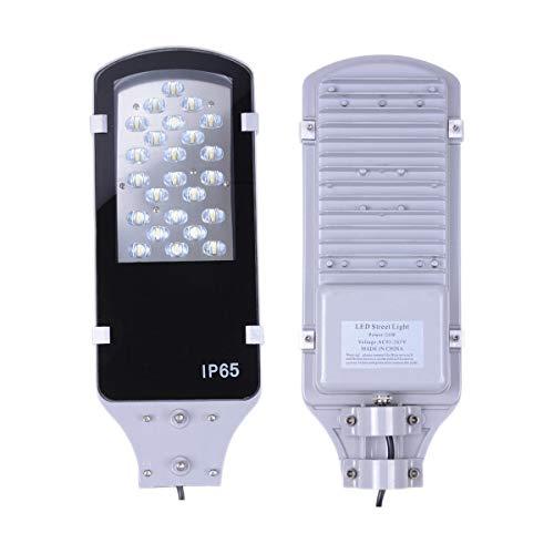 Brillihood LED Road Street Pole Light, 24 Watt, 6000K (Bright White), 2400 Lumens, IP65 Outdoor Floodlight Yard Garden Packing lot Lamp, LED Commercial Area Lighting